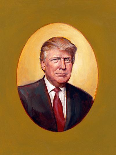Portrait of Trump